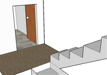 楼梯对着门风水好吗