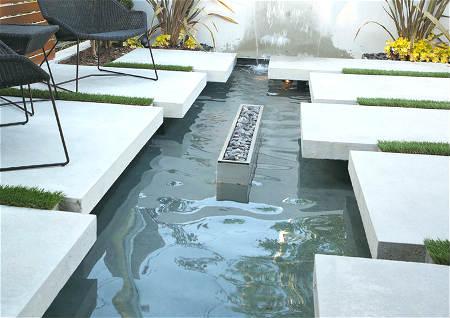 别墅院内水池风水